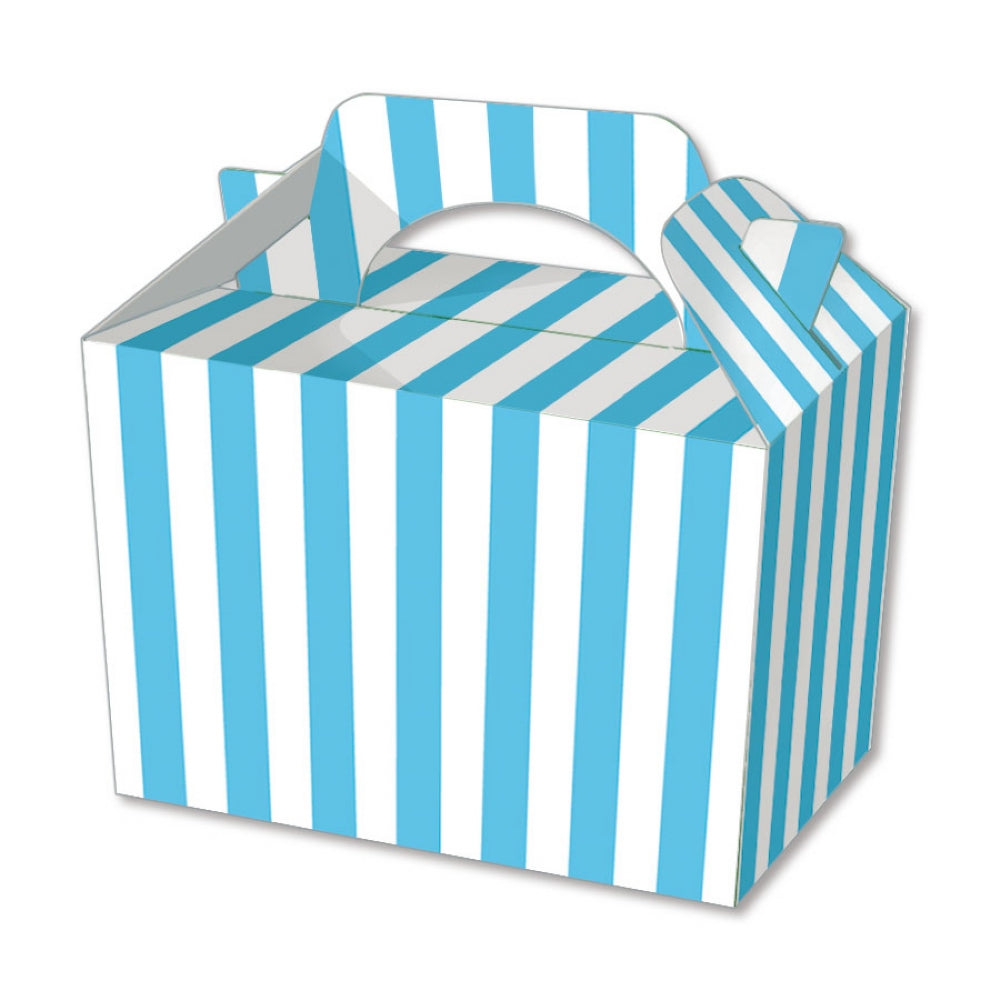 10 Blue Stripe Boxes