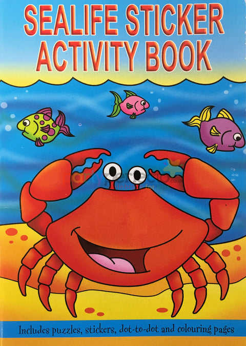 6 Sealife Sticker Activity Books