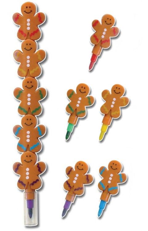 6 Gingerbread Man Crayons