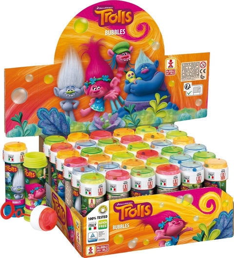 6 Trolls Bubble Liquid Tubs