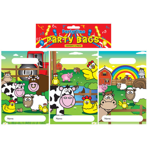 12 Farm Empty Party Bags