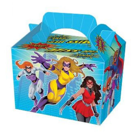 10 Miss Super Hero Boxes - Party Perfecto