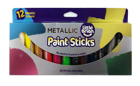 Little Brian Paint Sticks Metallic Colours - 12 Assorted