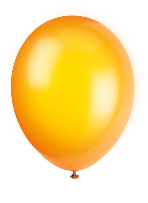 10 Citrus Orange Latex Balloons - Party Perfecto