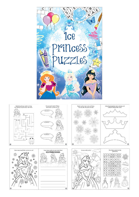 6 Ice Princess Puzzle Books
