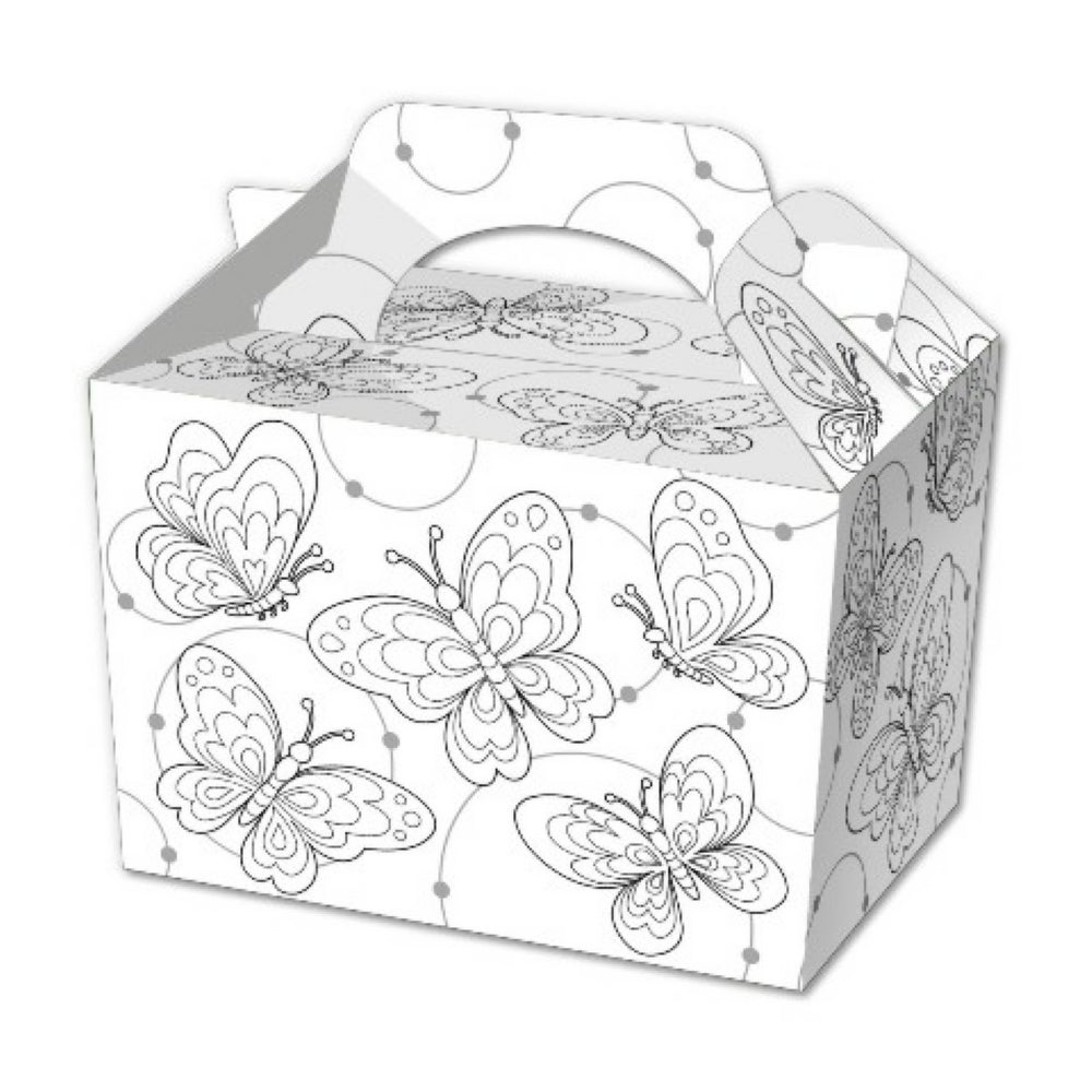 10 Colour In Butterfly Boxes