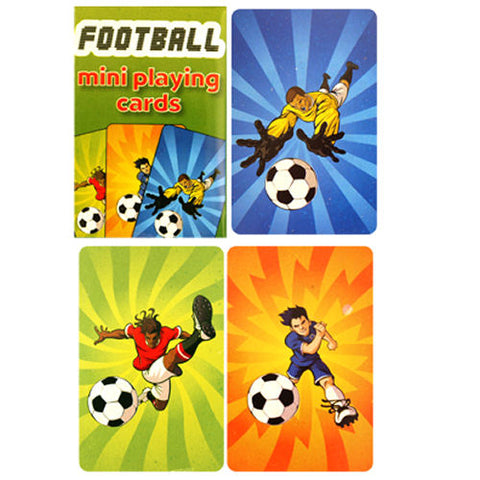 6 Football Miniature Playing Card Sets