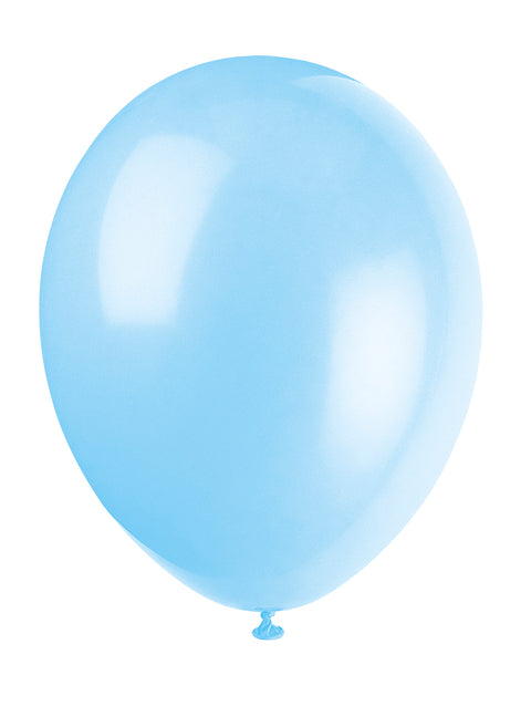 10 Cool Blue Latex Balloons - Party Perfecto