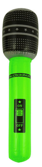 Inflatable 66cm Green Microphone