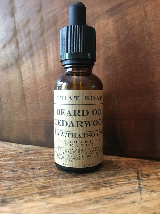 Beard Oil- Cedarwood, Orange + Rosemary