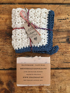 Organic Cotton Flannel and Soap Gift Set