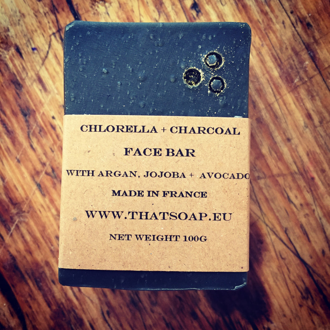 Chlorella + Charcoal Facial Bar