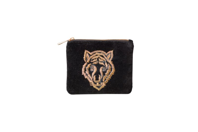 Tiger wallet velvet black