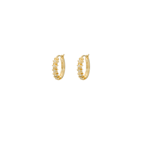 Starry ring earrings gold plated disco jungle