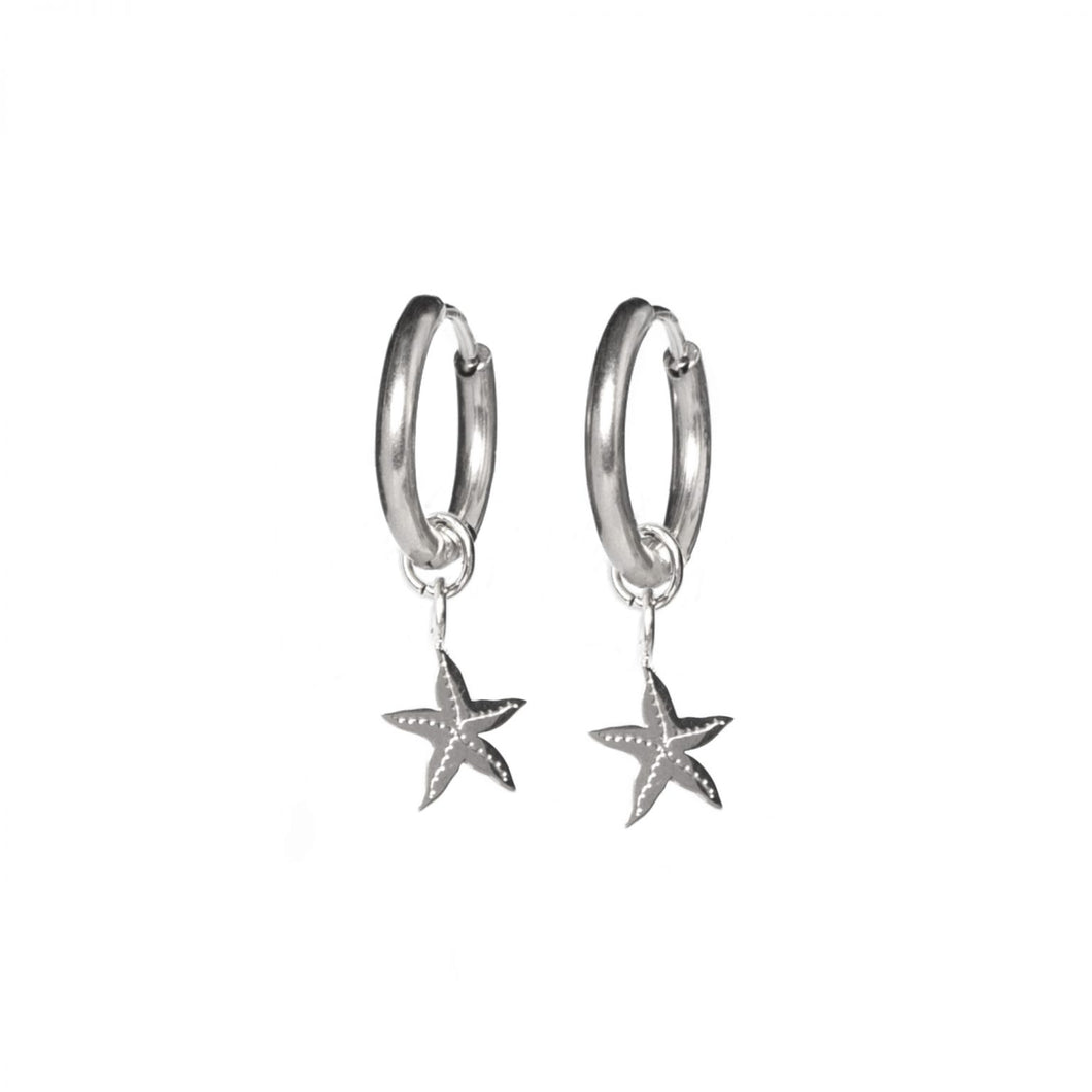 Earrings starfisch silver