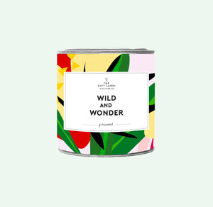 Big Candle Tin - Wild and wonder