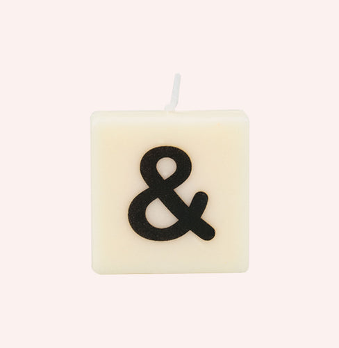 Letter Candle - &