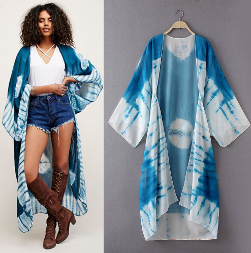 Lost in the space Kimono - Boho chic ,fashion clothing, boho dresses - Blue Nana
