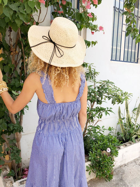 California Summer Dress / dark blue - Boho chic ,fashion clothing, boho dresses - Blue Nana