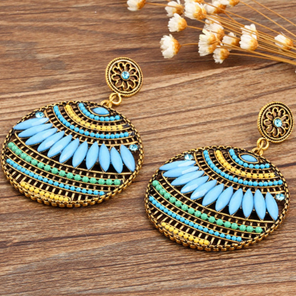 Boho Drops Earrings - Boho chic ,fashion clothing, boho dresses - Blue Nana