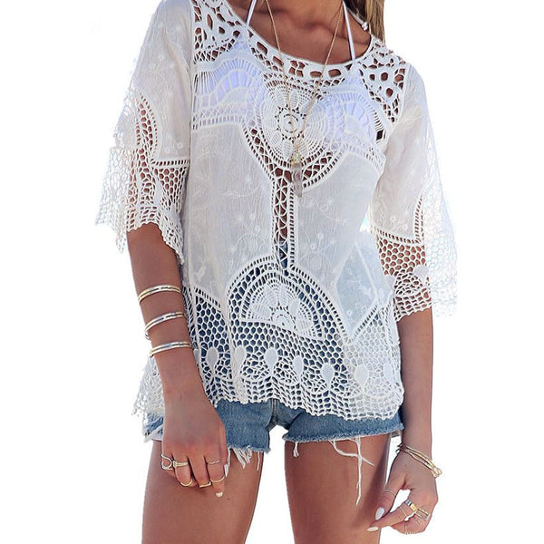 Nextdoor Cutie Top - Boho chic ,fashion clothing, boho dresses - Blue Nana