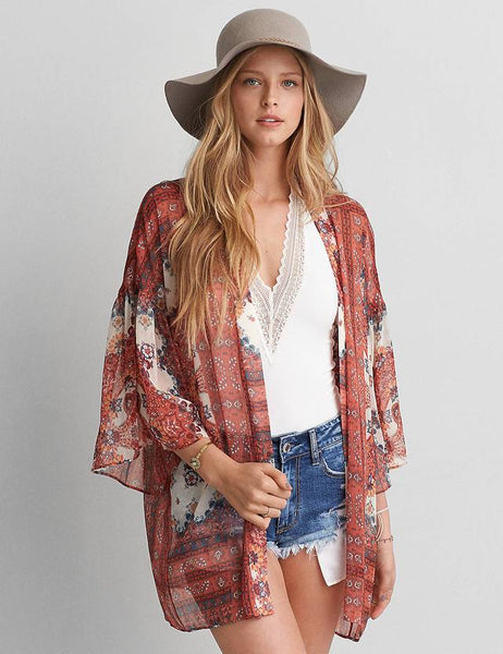 Everlasting Time Kimono - Boho chic ,fashion clothing, boho dresses - Blue Nana