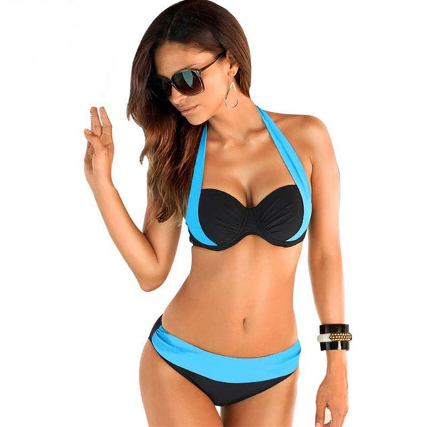 Hold on to me Bikini - Boho chic ,fashion clothing, boho dresses - Blue Nana