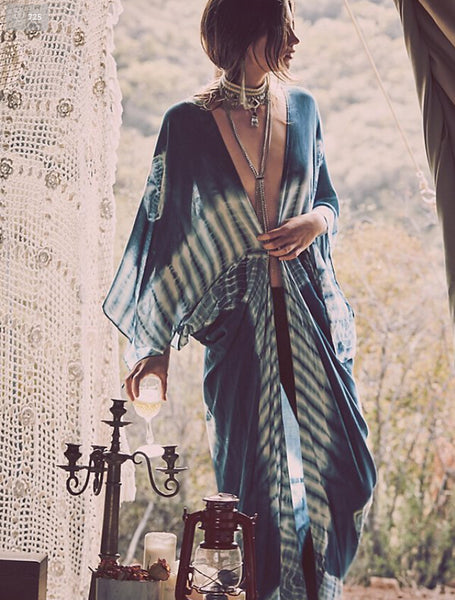 La Teresa Cardigan - Boho chic ,fashion clothing, boho dresses - Blue Nana