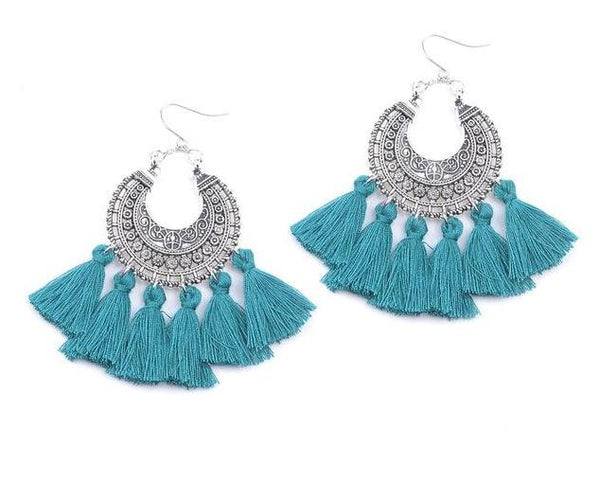 La Roma Earrings - Boho chic ,fashion clothing, boho dresses - Blue Nana