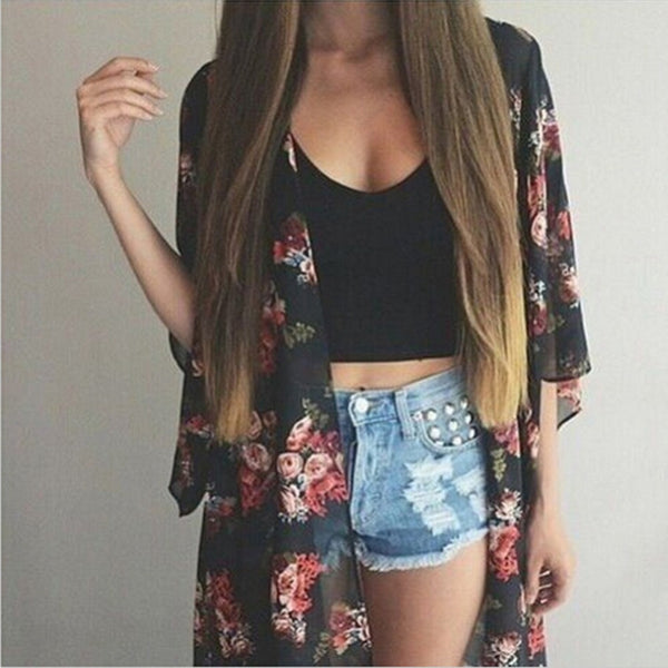 Take me back Kimono - Boho chic ,fashion clothing, boho dresses - Blue Nana