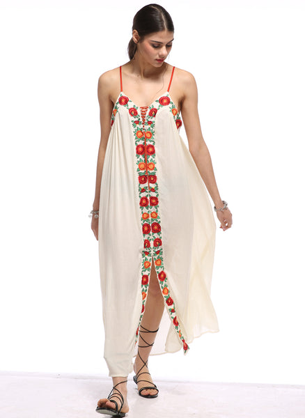 Beach Please Maxi Dress - Boho chic ,fashion clothing, boho dresses - Blue Nana
