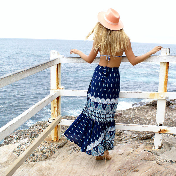 Harper's Summer Skirt - Boho chic ,fashion clothing, boho dresses - Blue Nana