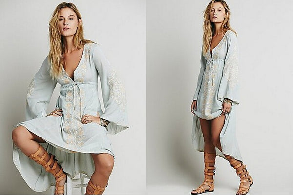 Big Reason Dress - Boho chic ,fashion clothing, boho dresses - Blue Nana