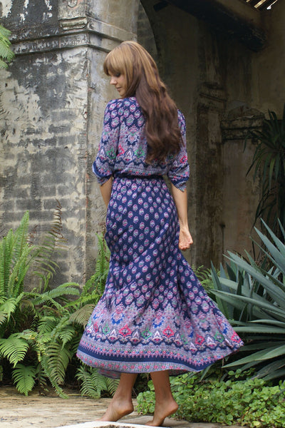 Purple Love Maxi Dress - Boho chic ,fashion clothing, boho dresses - Blue Nana