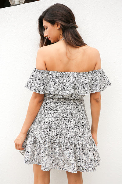 Beach Elegance Off Shoulder Dress - Boho chic ,fashion clothing, boho dresses - Blue Nana