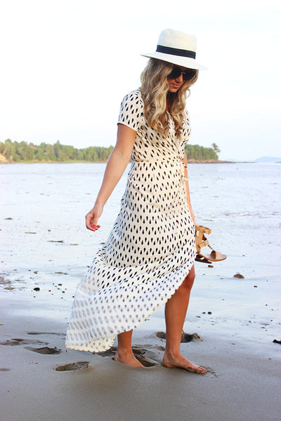 On The Edge Dress - Boho chic ,fashion clothing, boho dresses - Blue Nana