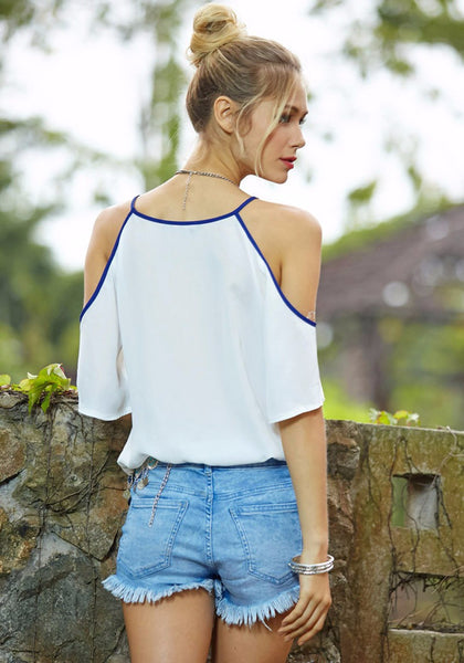 Angelic Soul Top - Boho chic ,fashion clothing, boho dresses - Blue Nana