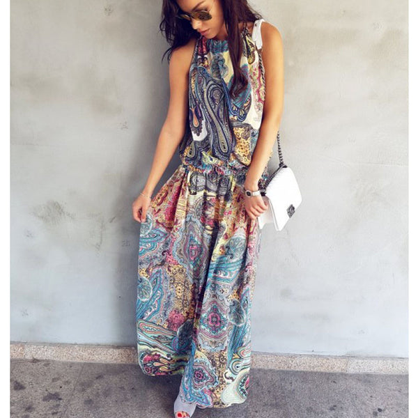 Eleganza Maxi Dress - Boho chic ,fashion clothing, boho dresses - Blue Nana