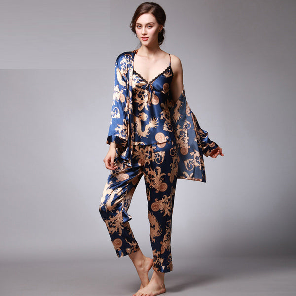 Wrap Me Pajamas set - Boho chic ,fashion clothing, boho dresses - Blue Nana