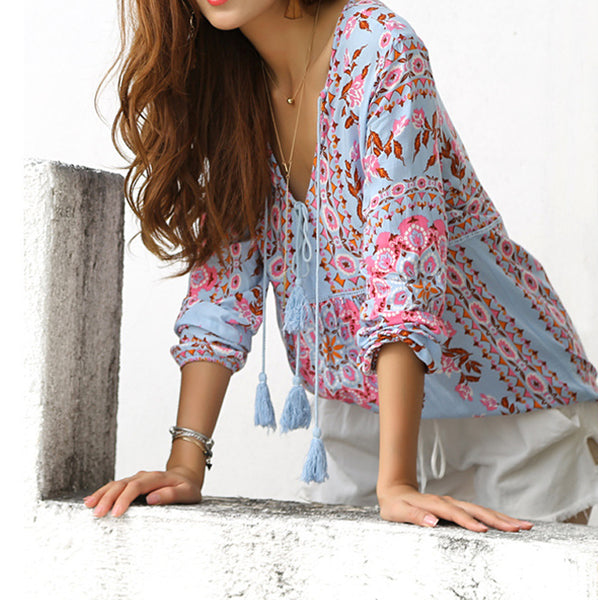 Purple Lantern Top - Boho chic ,fashion clothing, boho dresses - Blue Nana
