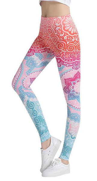 Let's Dance Leggings - Boho chic ,fashion clothing, boho dresses - Blue Nana