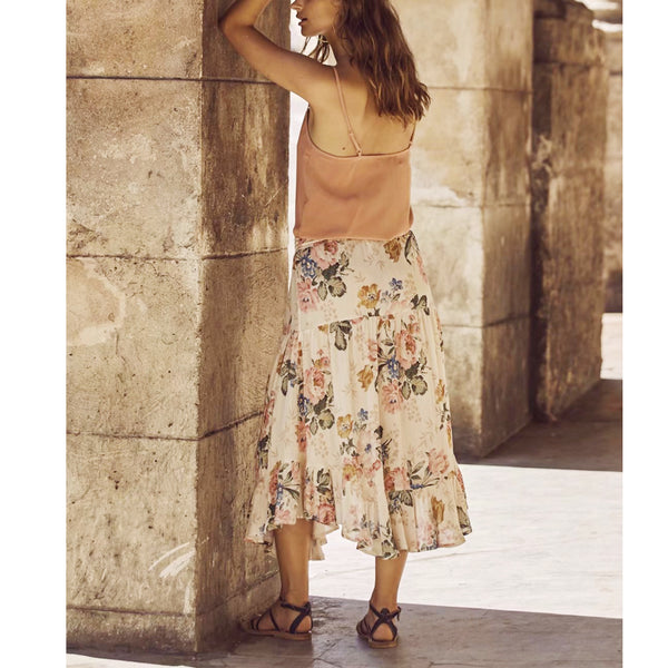 Hippie Baby Maxi Skirt - Boho chic ,fashion clothing, boho dresses - Blue Nana
