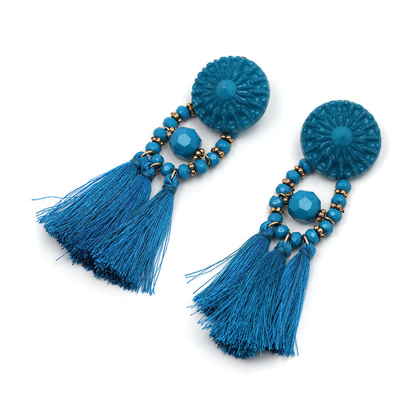 Time Travel Earrings - Boho chic ,fashion clothing, boho dresses - Blue Nana