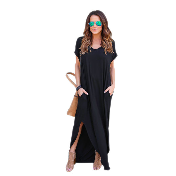 Cool in Black Maxi Dress - Boho chic ,fashion clothing, boho dresses - Blue Nana