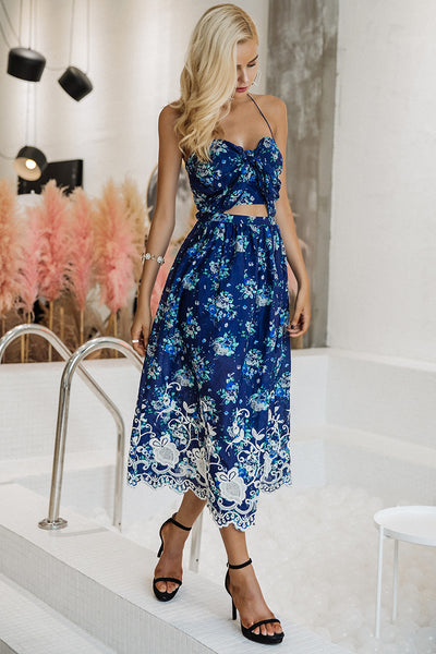 Sunday Blues Sexy Dress - Boho chic ,fashion clothing, boho dresses - Blue Nana