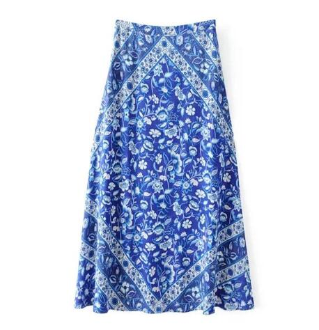 Town Girl Skirt - Boho chic ,fashion clothing, boho dresses - Blue Nana