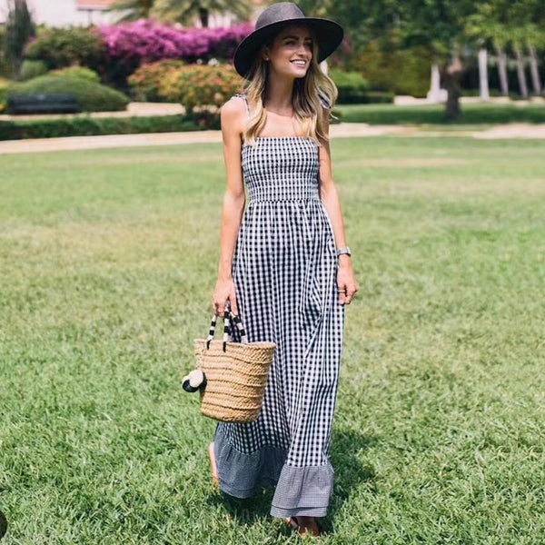 Simply Gray Maxi Dress - Boho chic ,fashion clothing, boho dresses - Blue Nana