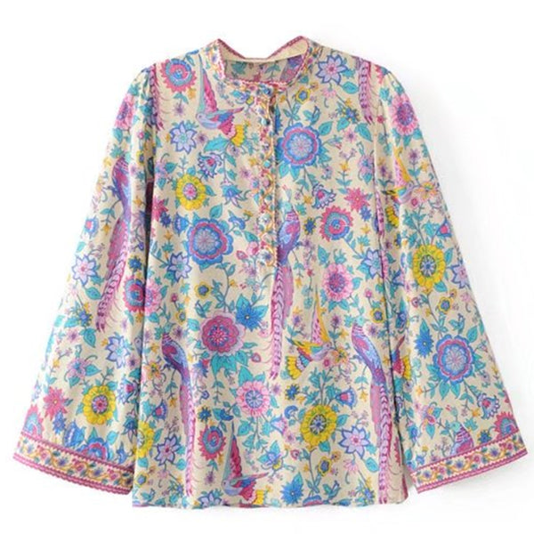 Peacock Floral Flare Chic