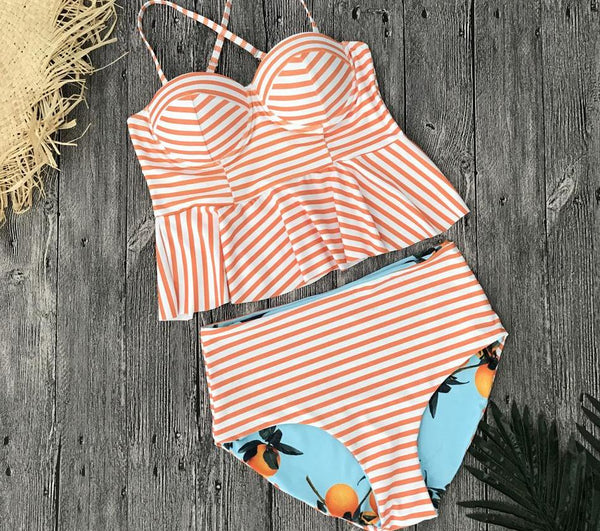 Casually Classic Swimsuit - Boho chic ,fashion clothing, boho dresses - Blue Nana