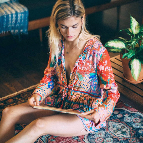 Happy Inlove Hippie Top - Boho chic ,fashion clothing, boho dresses - Blue Nana
